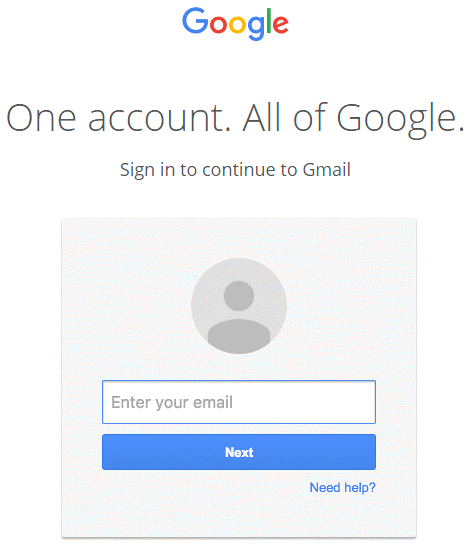 Phishing Gmail interfaccia log-in