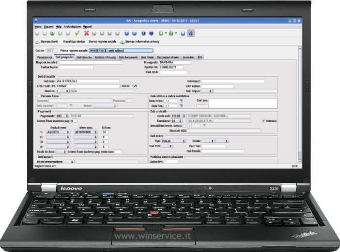 software gestionale pmi winservice